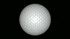 High Defintion Golf Ball Spinning Stock Footage