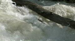 Raging river log M HD Stock Footage