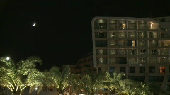 Luxury hotel and spa by night Stock Footage