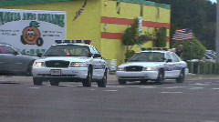Police Cars Racing Stock Footage
