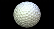 Stock Video Footage of db golf ball 01 hd720