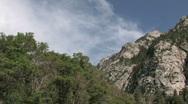 Utah Wasatch Mountains Waterfall pan rt M HD Stock Footage