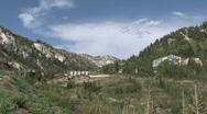 Mountain resorts Alta Utah in valley pan M HD Stock Footage