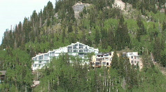 Mountain resorts Utah by cliff forest M HD Stock Footage