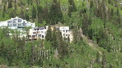 Mountain resorts Alta Utah pan left M HD Stock Footage