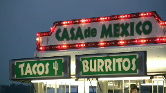 Tacos and Burrito Stand Stock Footage
