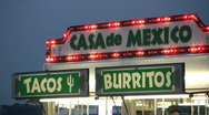 Stock Video Footage of Tacos and Burrito Stand