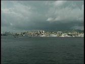 Stock Video Footage of Mediterranean yacht harbor