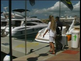 Stock Video Footage of Yacht Charter Guests arriving