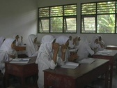 Islamic girls clapping Stock Footage