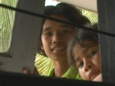 Stock Video Footage of Girls smiling in window