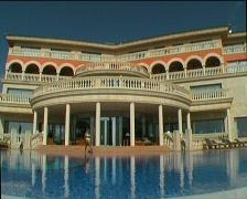 Seaside resort hotel, clip 3 Stock Footage