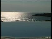 Stock Video Footage of Seaside resort hotel pool, clip 5