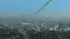 Meteor Impact - Part 2 - Los Angeles - stock footage
