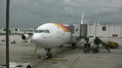 Modern passenger jet Stock Footage
