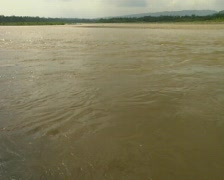 Turbulent flow in the Rio Napo, A tributary of the Amazon Stock Footage
