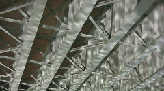 Bridge girders - with river reflections Stock Footage