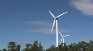 Stock Video Footage of Wind turbines