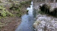 Germany Chiemgau Marshland Frozen ice Stock Footage