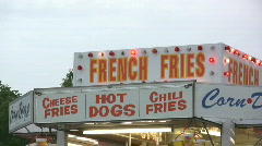 French Fry House Stock Footage