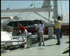 Yacht Charter Guests arriving Stock Footage