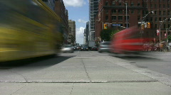 Busy intersection time lapse. Downtown Toronto. Stock Footage