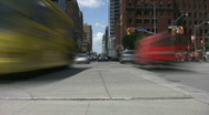 Stock Video Footage of Busy intersection time lapse. Downtown Toronto.