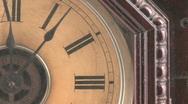 Clock pan Stock Footage