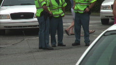 3policeman idle - stock footage
