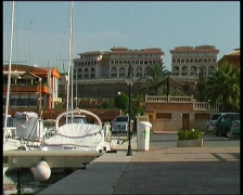 Yacht harbor Port Adriano Stock Footage