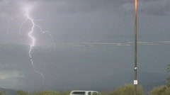Powerful lightning in the oncoming storm Stock Footage