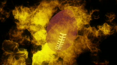 Burning football looping background  - stock footage