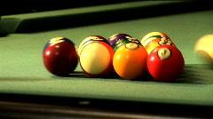 Balls on pool table Stock Footage