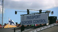Border controll in Visby harbor in Sweden Stock Footage