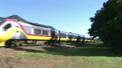 Tilt train  australia  Stock Footage