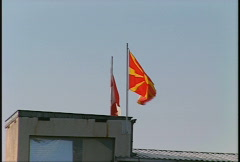 Flag, Macedonia flag Stock Footage