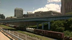Cleveland, Ohio: Train Timelapse - stock footage