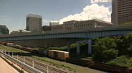 Stock Video Footage of Cleveland, Ohio: Train Timelapse