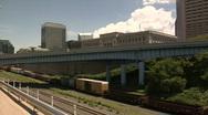 Cleveland, Ohio: Train Timelapse Stock Footage