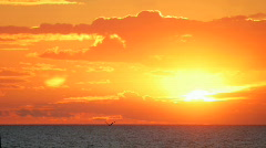 Sunset  Over  Water Timelapse Stock Footage