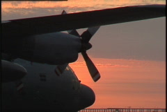 Military, C130 Hercules on tarmac zoom back Stock Footage
