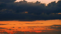 Dark Sunset Slow Timelapse - stock footage