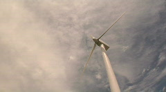 Cleveland, Ohio: Timelapse of Wind Turbine Stock Footage