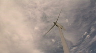 Stock Video Footage of Cleveland, Ohio: Timelapse of Wind Turbine
