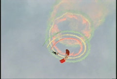 Parachutist performing a candycane trick Stock Footage