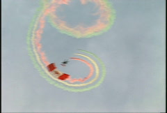 Parachutist performing a candycane and out Stock Footage