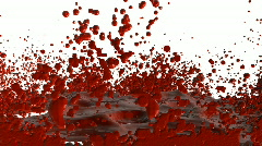Bloody Splatter Stock Footage