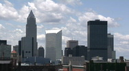 Stock Video Footage of Cleveland, Ohio: Timelapse of City Skyline