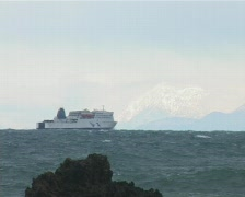 Ferry crossing 1 Stock Footage