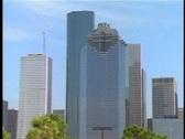 Modern city skyline Stock Footage